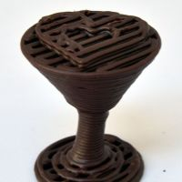 3D Chocolate Print - Choctini Glass