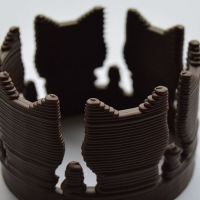 3D Chocolate Print - Cat Crown