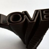 3D Chocolate Print - Spiralling Love, Side View
