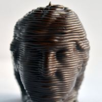 3D Chocolate Print - Paul McCartney Head Front