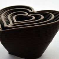 3D Chocolate Print - Heart in Heart, Side