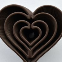 3D Chocolate Print - Heart in Heart, Top