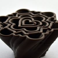 3D Chocolate Print - Geometric Heart Hurricane, Side
