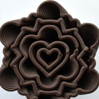 3D Chocolate Print - Geometric Heart Hurricane, Top