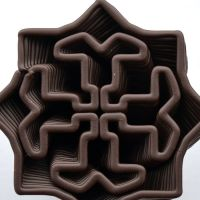 3D Chocolate Print - Star Spiral, Top