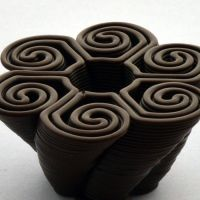 3D Chocolate Print - Swirling Hurricane, Side