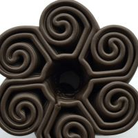 3D Chocolate Print - Swirling Hurricane, Top