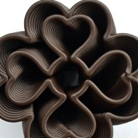 3D Chocolate Print - Four Leaf Heart Clover Top