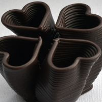 3D Chocolate Print - Four Heart Loft Side