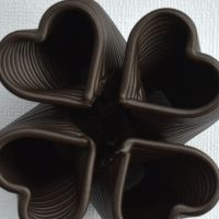 3D Chocolate Print - Four Heart Loft Top