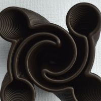 3D Chocolate Print - Yin Yang Hurricane Top