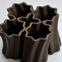 3D Chocolate Print - Four Starburst Spiral Side