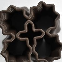 3D Chocolate Print - Four Starburst Spiral Top