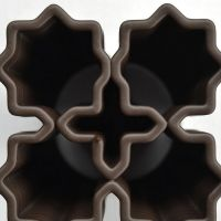 3D Chocolate Print - Four Starburst Top