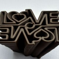 3D Chocolate Print - Love Mirror Front
