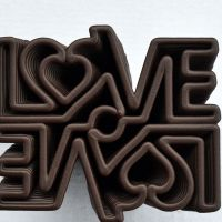 3D Chocolate Print - Love Mirror Top