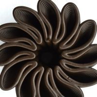 3D Chocolate Print - Petal Power Top