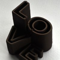 3D Chocolate Print - Love Skyscraper Side