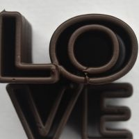 3D Chocolate Print - Love Skyscraper Top