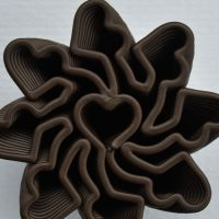 3D Chocolate Print - Multi-heart Spinner