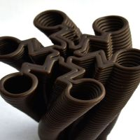 3D Chocolate Print - Lightning Spinner Side
