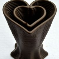 3D Chocolate Print - Star to Hear Vase