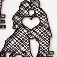 3D Chocolate Printer - Choc Edge - 2.5D Couple Kiss Love