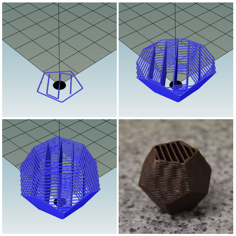 3D Printing Chocolate Dodecahedron